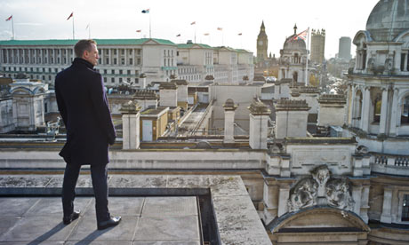 James Bond looking out over London.