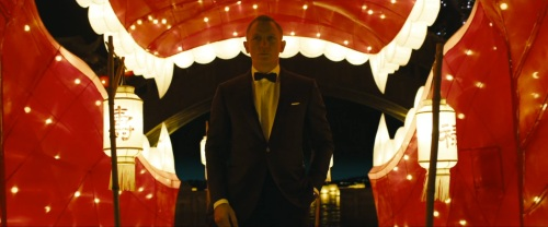 James Bond arriving at the floating casino.