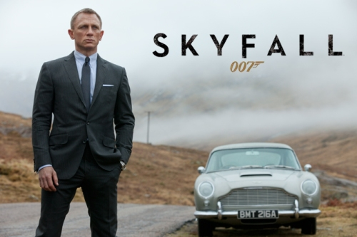 Daniel Craig as 007 in the Scottish Highlands.
